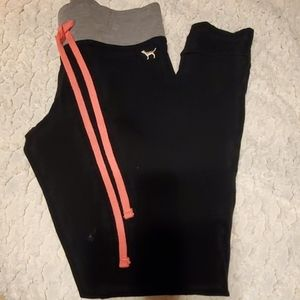 Victorias Secret Pink black with grey leggings